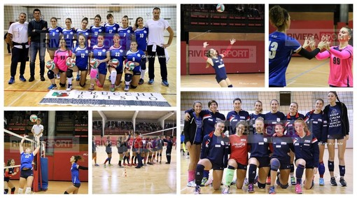 Volley, Serie D femminile. Spettacolo assoluto tra Bordivolley e NSC Imperia: riviviamo il derby negli scatti di Eugenio Conte (FOTO)